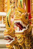 Two naga in thai temple. 