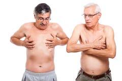 Two naked seniors Stock Photos