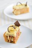 Two Napoleon cakes Royalty Free Stock Photo