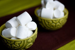 Two national oriental bowls with marshmallows Stock Photography