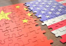 Puzzle China And United States royalty free stock photography