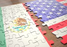 Puzzle Mexico And United States royalty free stock photos