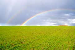 Two natural rainbow Royalty Free Stock Photography