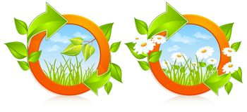 Two nature circles Stock Photography