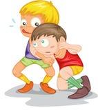 Two Naughty Boys Stock Photo