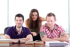 Two naughty students Royalty Free Stock Photo