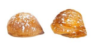 Two Neapolitan Sfogliatelle, riccia and frolla. Stock Images