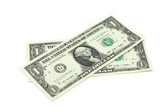 Two new bills into one US dollar Stock Images