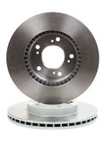 Two New Brake Discs For The Car Royalty Free Stock Images
