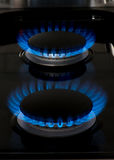 Two new gas stove burners Royalty Free Stock Image