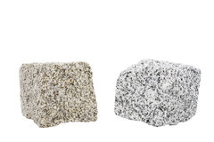 Two new granite stones isolated on white Royalty Free Stock Photo