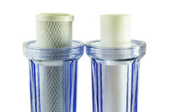 Two new household water filter cartridge & Jugs Royalty Free Stock Image