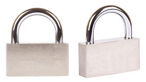 Two new locks isolated on white background Royalty Free Stock Photos