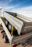 Two new metallic trailers transportation Royalty Free Stock Photos
