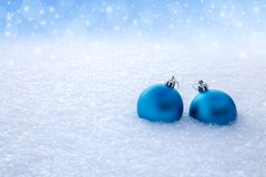 Two New Year`s balls. Stock Image