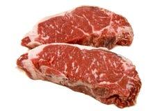 Two New York Strip Steaks Stock Photos