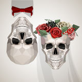 Two newlywed skulls Royalty Free Stock Images