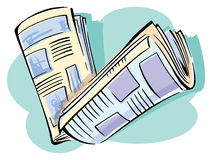 Two newspapers Stock Image