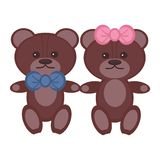 Two Nice Bears Pair Royalty Free Stock Photography