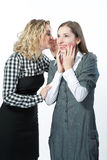 Two nice girlfriends together Stock Photos