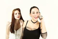 Two nice girls Stock Photos