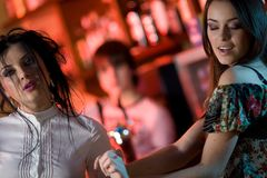 Two nice girls are dancing Royalty Free Stock Photography