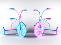 Two nice kid's bikes Royalty Free Stock Photography