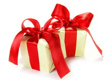 Two Nice Little Gifts Royalty Free Stock Photos