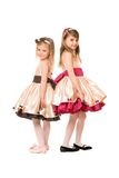 Two nice little girls in a dress Stock Photography