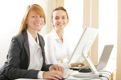 Two nice students Stock Photo