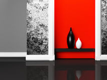 Two nice vases on the shelf Royalty Free Stock Photos