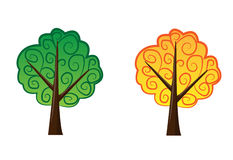 Two nice vector trees. Stock Image