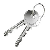 Two nickel door keys Stock Image