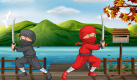 Two ninjas Stock Photo