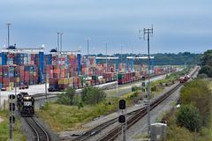 Inland Port Greer of SC Ports Authority royalty free stock image