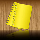Two notebook. Shadow on wooden backgrounds Stock Images