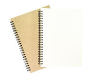 Two notebook. Two notebook on white background Stock Image
