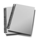 Two notebooks. Isolated over white Stock Images