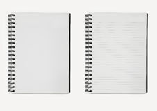 Two notebooks paper spiral Royalty Free Stock Photos