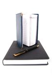 Two notebooks with pen. Royalty Free Stock Photography