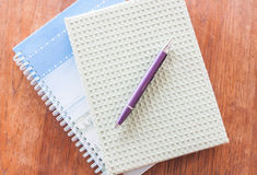 Two of notebooks and pen Royalty Free Stock Photos