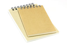 Two notebooks on white Royalty Free Stock Photos