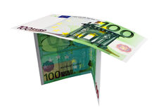Two notes for one hundred Euros. On a white background Stock Images