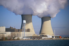 Two nuclear power plants Stock Photography