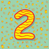 Two number birthday greeting design Royalty Free Stock Photography