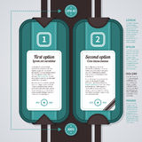 Two numbered options in retro style. Useful for web design, advertising or presentations. EPS10. Stock Photo