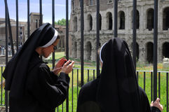 Two Nuns in Rome Royalty Free Stock Photo