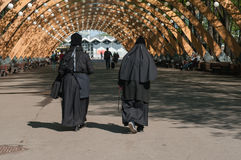 Two nuns walk in the park Stock Photography