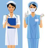 Two nurses Royalty Free Stock Image