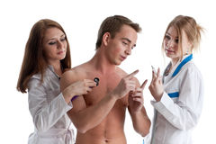 Two nurses and the patient Royalty Free Stock Photo